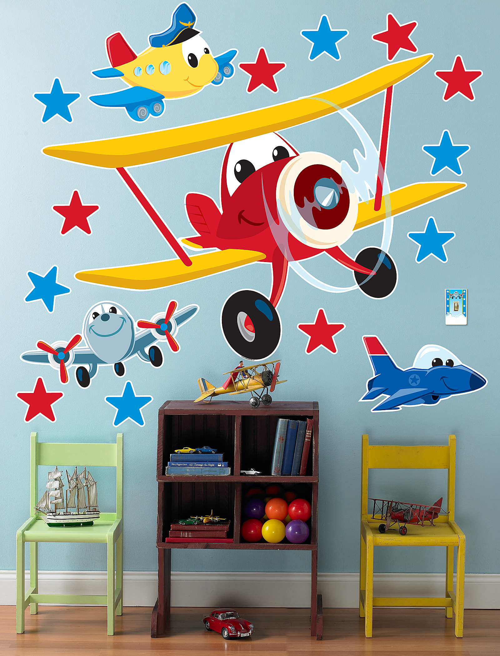 Airplane adventure giant wall decals birthdayexpress amipublicfo Image collections