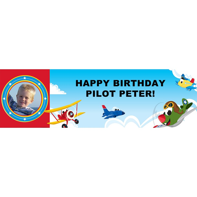 Airplanes Personalized Photo Vinyl Banner