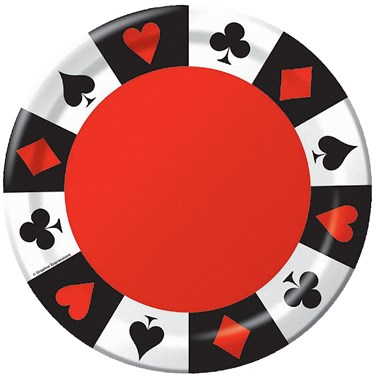 Casino Card Party Dinner Plates