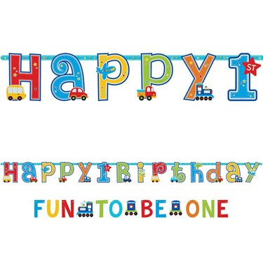 All Aboard 1st Birthday Add-An-Age Letter Banner (Each)