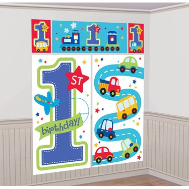 All Aboard 1st Birthday Wall Decorating Kit (Each)