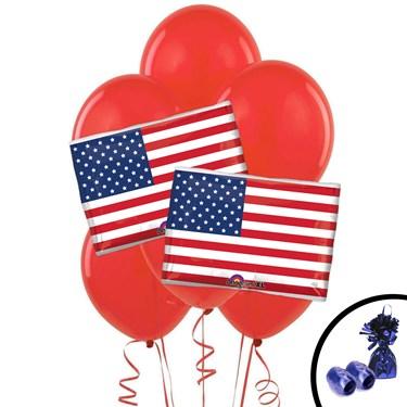 American Flag Jumbo Balloon Bouquet