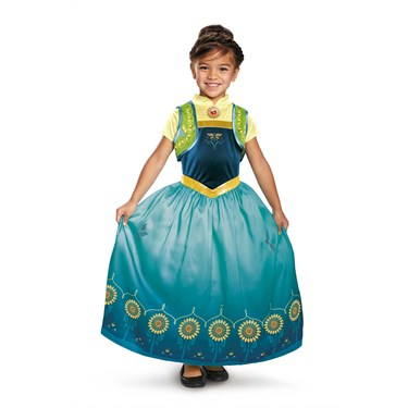 Anna Frozen Fever Deluxe Girls Costume