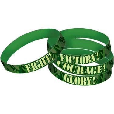 Army Camo Rubber Favor Bracelets (4)