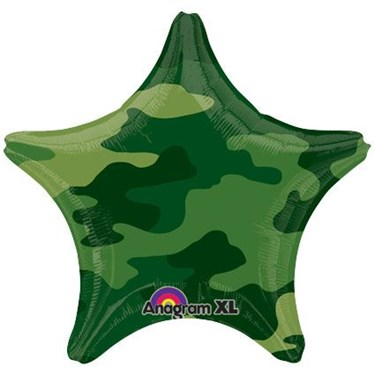 Army Camo Star 19 Balloon (1)