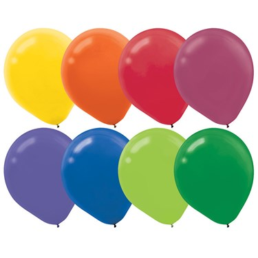 Assorted Colors Latex Balloons (72)