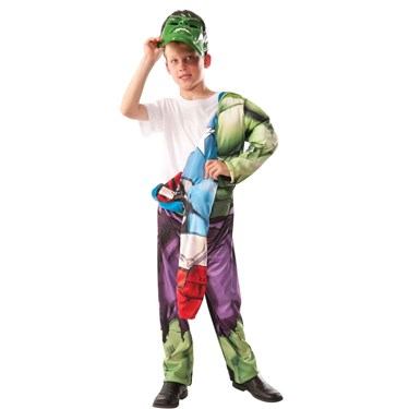 Avengers Assemble - Deluxe Reversible Hulk -Captain America Child Costume