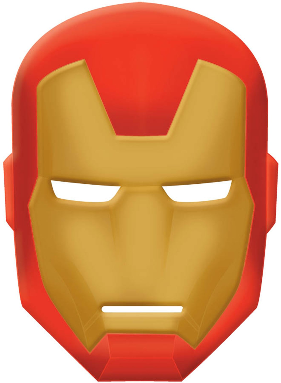 Avengers assemble iron man mask for Iron man face mask template
