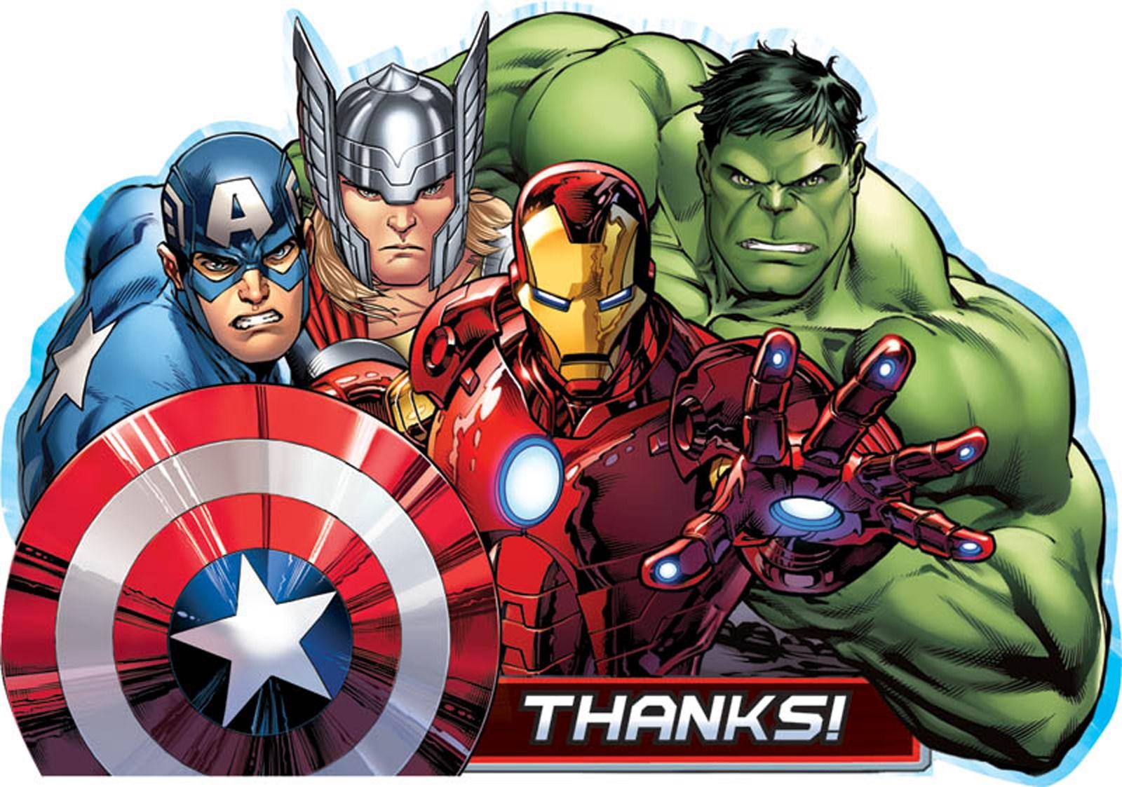 Avengers Assemble Thank-You Postcards | BirthdayExpress.com