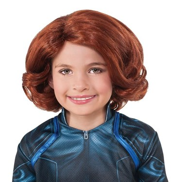 Avengers Black Widow Wig For Kids