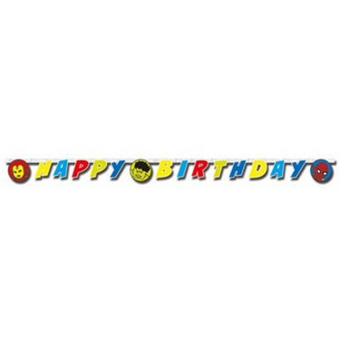 "Avengers Team Power 78"" Happy Birthday Banner"