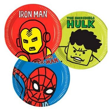 "Avengers Team Power 9"" Lunch Plates (8)"