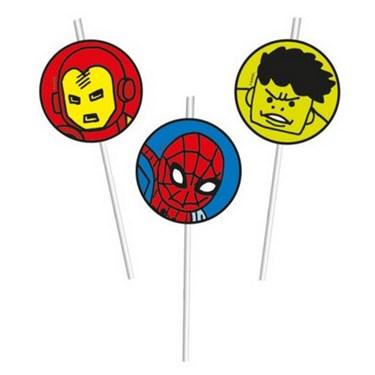 Avengers Team Power Drinking Straws (6)
