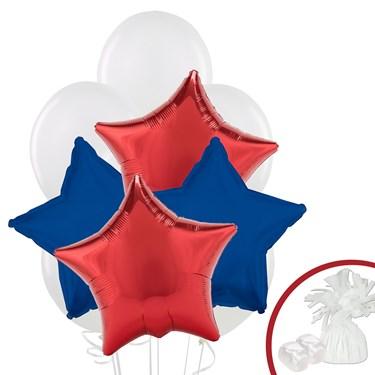 Red & Navy Star Balloon Bouquet