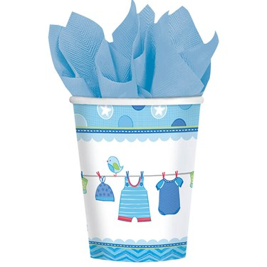 Baby Shower Boy Shower With Love 9oz. Cups (8)