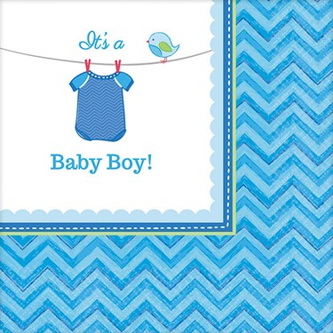 Baby Shower Boy Shower With Love Beverage Napkins (16)