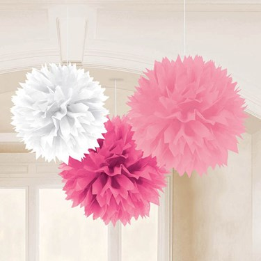 Baby Shower Girl 16 Fluffy Tissue Decor