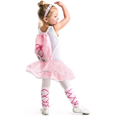 Ballerina Drawstring Backpack - Girls Dress Up Set