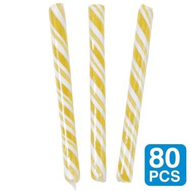"Banana Yellow 5"" Candy Sticks (80)"