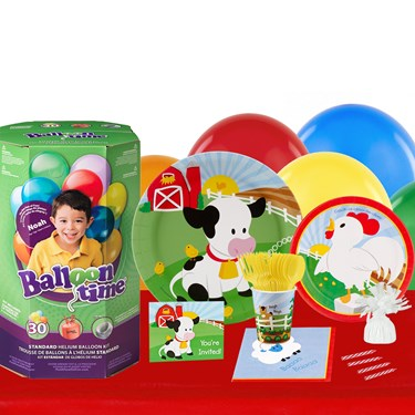 Barnyard 16 Guest Kit with Tableware and Helium Kit