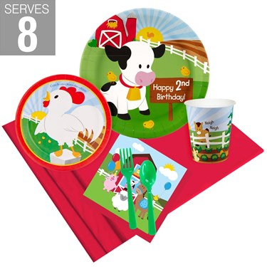 Barnyard 2nd Birthday Party Pack For 8