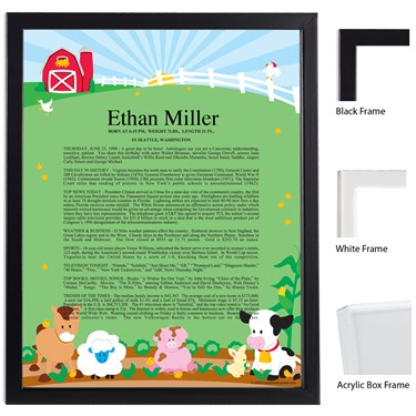 Barnyard Keepsake Scroll