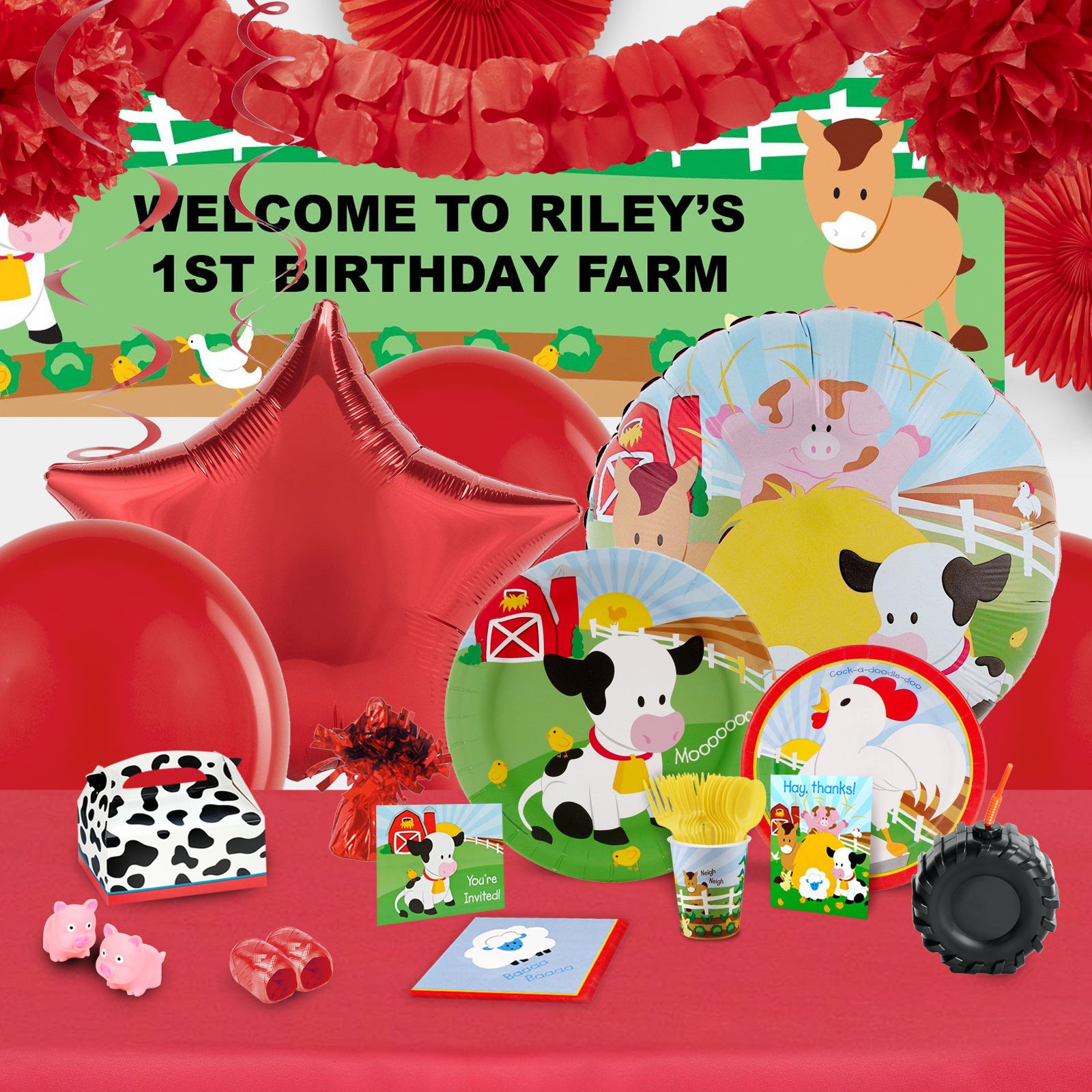 Alt. Image (1) - Barnyard Party in a Box for 16