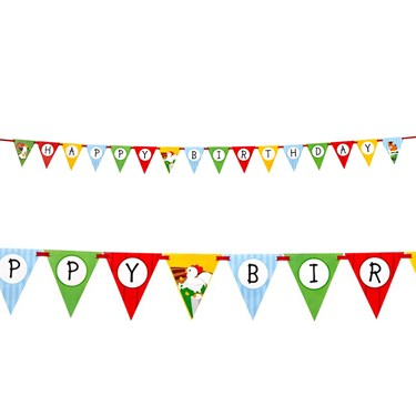 Barnyard Ribbon Flag Banner