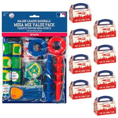 Baseball Filled Favor Box Kit  (For 8 Guests)
