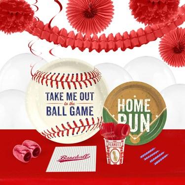 Baseball Time 16 Guest Tableware & Deco Kit