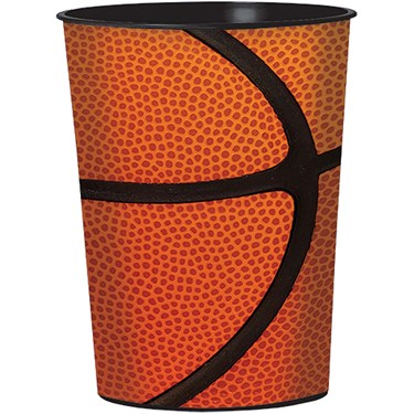 Basketball 16oz Plastic Favor Cup (1)