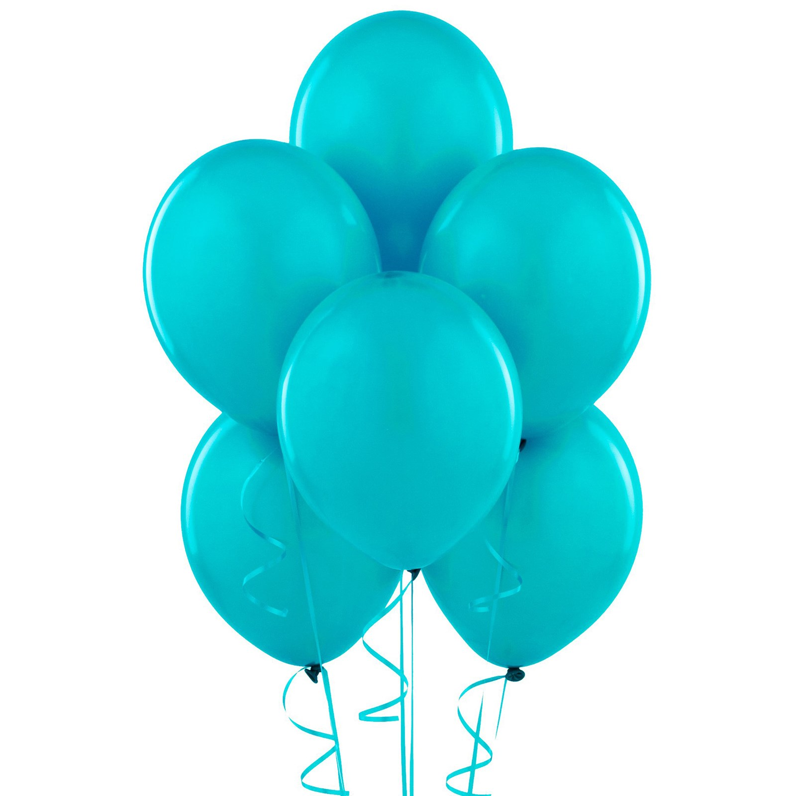 Green and blue balloons - Bermuda Blue Turquoise Matte Balloons