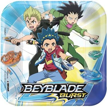 "Beyblade 7"" Dessert Plates (8)"