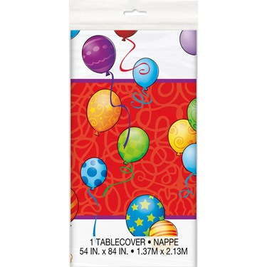 Birthday Balloons Plastic Table Cover