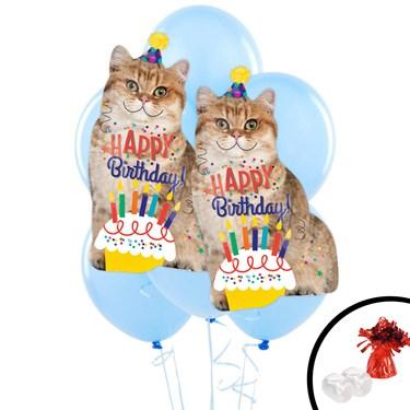 Birthday Cat Jumbo Balloon Bouquet