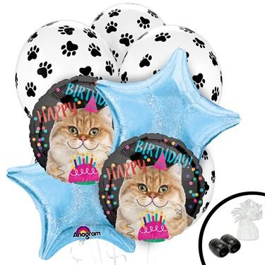 Birthday Cat Round Balloon Bouquet