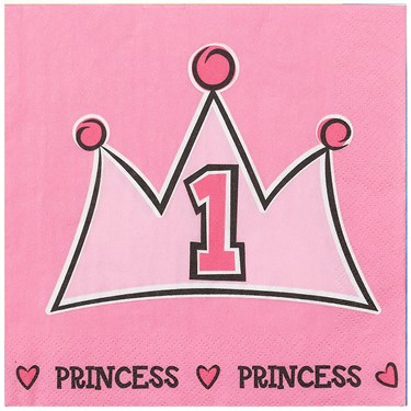 Birthday Princess 1st - Lunch Napkins