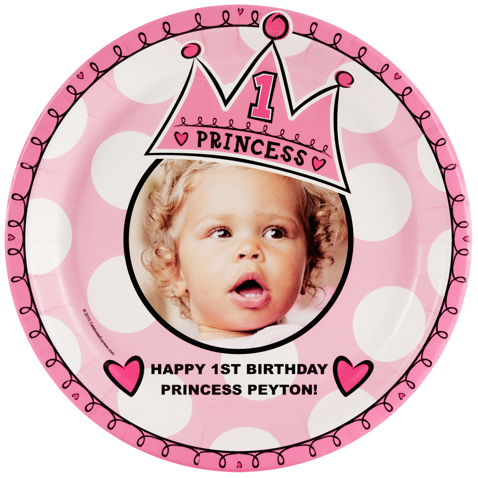 Birthday Princess 1st Personalized - Dinner Plate  sc 1 st  Birthday Express & Birthday Princess 1st Personalized - Dinner Plate ...