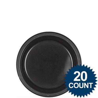 Black 7 Plastic Cake Plates (20)
