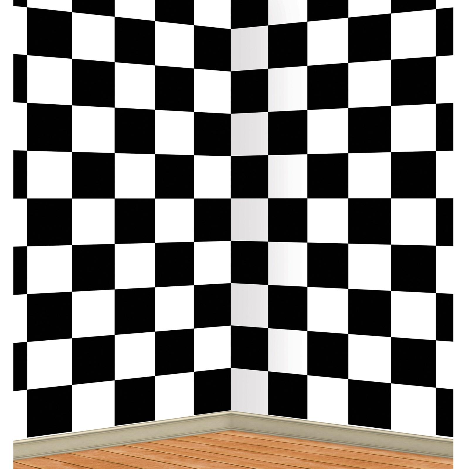 Black And White Checkered Backdrop Birthdayexpress Com