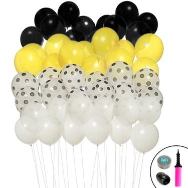 Black & Yellow Ombre Balloon Kit
