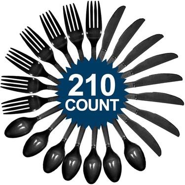 Black Cutlery Set (210)