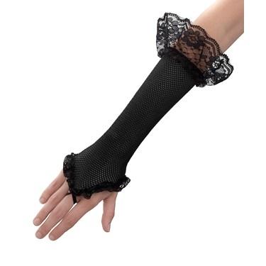 Black Mesh Fingerless Glove