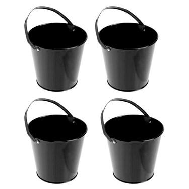 Black Metal Buckets (4)
