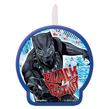 Black Panther Birthday Candle
