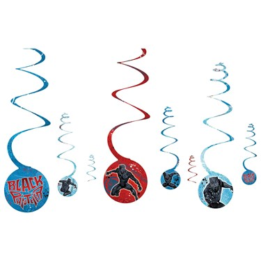 Black Panther Spiral Decorations (8)