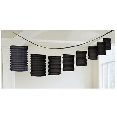 Black Paper Lantern Garland