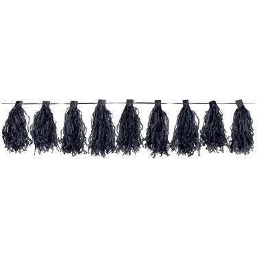 Black Paper Tassel Garland