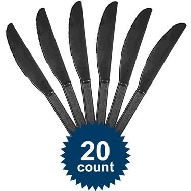 Black Plastic Knives
