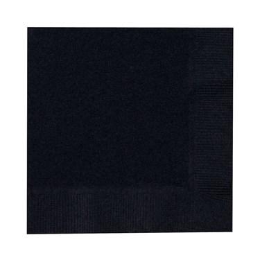 Black Velvet (Black) Beverage Napkins